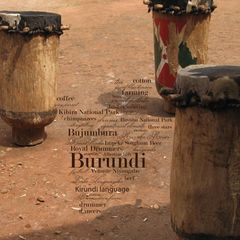 Greetings from Burundi - Wortwolke Postkarte
