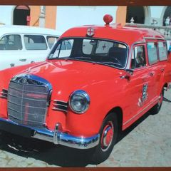 Old Mercedes 180 Ambulance - Postcard
