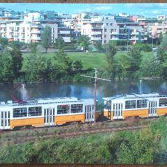 Tram type of Tatra - Postcard