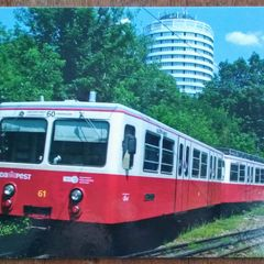 Cog Railway Locomotive - Postcard