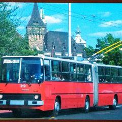 Trolleybus Ikarus - Postkarte